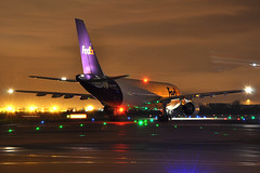 N727FD A300-622(RF)  FedEx (n707pm) Tags: ireland night airplane photography airport aircraft cargo airline airbus airlines fedex departure dub departing freighter dublinairport a300f eidw n727fd cn579 25112014