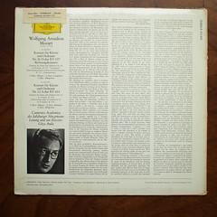 "Backside Mozart - ""Kronungskonzert Coronation"" KV537 & Piano Concerto KV414 - Geza Anda Piano & Conductor, Camerata Academica Salzburger Mozarteum, DGG 139 113 SLPM (Piano Piano!) Tags: sluiskil discobarfermont tel01157227"