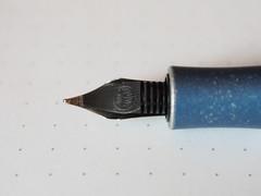 Kaweco AL Sport Stonewashed Blue - Reverse Nib