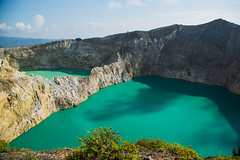 The Twin Lake of Mount Kelimutu (ninaflynnphotography) Tags: panorama mountain lake green indonesia landscape view ngc scenic twin panoramic volcanic nationalgeographic ende waterscape kelimutu amazingview canonef24105mmf4lisusm canoneos5dmarkiii ninaflynnphotography ninaflynn2014