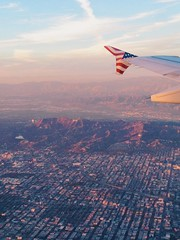 Hollywood (mlee525) Tags: california travel sunset la flying losangeles airplanes hollywood planes iphone the101 virginamerica vscocam