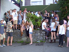 Summertime college party (jebersohn1) Tags: girls party summer portrait people love boys fun photography shoes young drinking teenagers guys clothes dresses alcohol adults crush collegestudents hangingout prettygirls