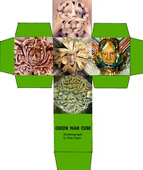 Green Man cube (tina negus) Tags: art design digitalart card cube freeoffer tinanegus greenmann