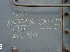 DSC02103 (wanderingdictator) Tags: art bench graffiti trains streaks monikers benching