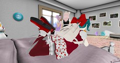 A different perspective (boribot) Tags: pink red white black home dress boom sl lilac secondlife maryjanes rmk bows rsw audax tsg gfield katat0nik wasabipills