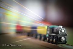 Faster Than Time (jah32) Tags: light stilllife motion closeup speed train toys lights action thomas trains transportation closeups locomotives lightroom toysforboys