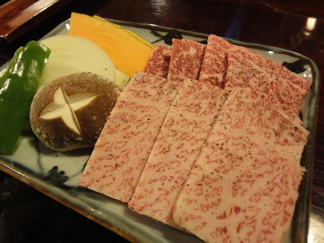 銀風亭で美味しい飛騨牛のランチを食すの写真