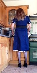 Nurse Summers (deborah summers2010) Tags: stockings dress slip nurse