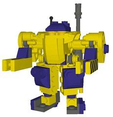 Golem (aurlaent) Tags: lego mecha mech moc microscale mechaton mfz mf0 mobileframezero buf3d
