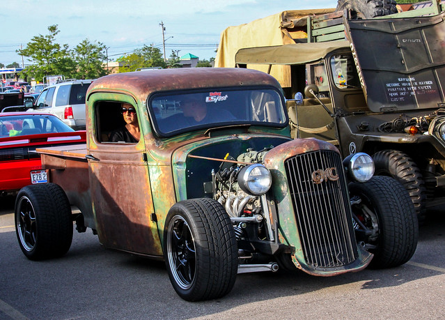 ohio junk rust hotrod milford gmc streetrod jalopy ratrod rustypickuptruck milfordcruisein