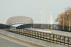 Metrostation Buikslotermeer 2014-11-22 at 15-38-40 (Guda G) Tags: amsterdam metro metrostation noordzuidlijn amsterdamnoord buikslotermeer kooiconstructie nieuweleeuwarderweg