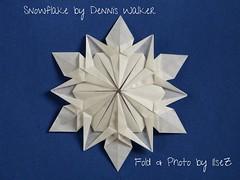 Snowflake Dennis Walker (esli24) Tags: snowflake christmas weihnachten star origami stern papierfalten denniswalker esli24 ilsez