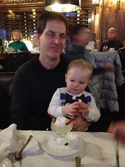 """Paul Eats Snowman Ice Cream at the Walnut Room • <a style=""""font-size:0.8em;"""" href=""""http://www.flickr.com/photos/109120354@N07/15932233630/"""" target=""""_blank"""">View on Flickr</a>"""