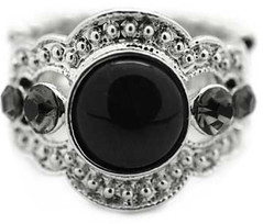 5th Avenue Black Ring P4120-1