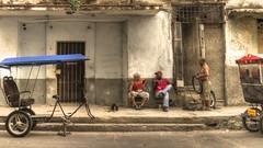 Streets of Havana - Cuba (IV2K) Tags: street dog tricycle taxi sony havana cuba caribbean cuban habana hdr kuba k9 lahabana rx1