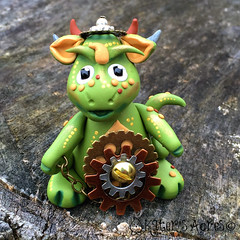 Steampunk Dragon Oliver (KatersAcres) Tags: dragon handmade metallic polymerclay fantasy figurine steampunk polymer polyclay handsculpted