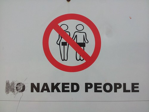 Plage interdite aux nudistes, Gonubie, Afrique du Sud