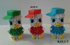 Huey Louie and Dewey Origami 3d (Samuel Sfa87) Tags: comics paper 3d origami comic arte crafts craft disney donald huey e sfa junior and block louie dewey carta artisan qui papercraft paperino giovani woodchucks quo qua marmotte arteempapel blockfolding origami3d sfaorigami sfa87 arteconlacarta