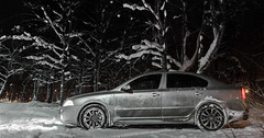 Skoda Octavia RS (sidorov_oleg) Tags: lighting camera winter light snow cold tree cars car night photoshop canon silver dark photography eos drive automobile raw driving photoshoot magic gray automotive super motors cc vision adobe vehicle hd lantern snowfall panning speeding hdr tracking skoda vrs fotoshoot bracketing veloce 32bit 18135 600d 18135mm severodvinsk worldcars cc2014