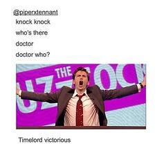 Best knock-knock joke ever!  #carlceder #doctorwho #doctorwhofunny #funny #cleanhumor (carldceder) Tags: david carl ceder carldceder
