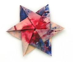 Fujimoto hexagone Rosette  20 front (Pliages et vagabondages) Tags: origami rosette décoration déco fujimoto