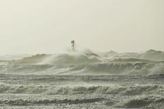 Egon in Hvide Sande (Jaedde & Sis) Tags: ocean storm waves wind northsea egon vesterhavet hvidesande herowinner