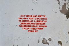 2014-12-27: Backwards Writing (psyxjaw) Tags: christmas street art graffiti birmingham december walk basin gasstreet