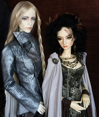 Caelan and Cassie (wiggies2luv) Tags: angel elf sd bjd bella soom mecha auden dollmore sabik