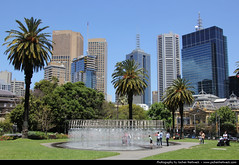 Skyline seen from Parliament Gardens, Melbourne, Australia (JH_1982) Tags: park city gardens skyline garden cityscape skyscrapers australia parliament victoria vic cbd australien australie 澳大利亚 墨尔本 オーストラリア メルボルン мельбурн австралия 오스트레일리아 멜버른 빅토리아 주 виктория ビクトリア州 維多利亞州 मेलबॉर्न विक्टोरिया