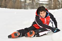 On the snow (petia.balabanova) Tags: winter boy portrait white snow playing ski sport happy outdoor montain 70200mm nikond800