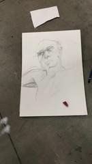 Life Drawing Portrait (lana_finn) Tags: portrait white man pencil paper shadows shades highlights tonal crosshatching