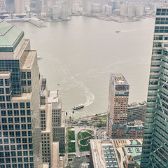 Hudson River (Thomasaurus) Tags: newyorkcity mamiya river downtown kodak manhattan financialdistrict hudson 80mm ektar freedomtower 7ii 1wtc porostocky