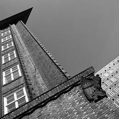 Chilehaus (dirkjandb) Tags: bw abstract brick architecture corner square hamburg chilehaus fritzhger