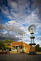 Downtown Blackwater Missouri (Notley) Tags: sky windmill clouds midwest may missouri blackwater smalltown 2016 10thavenue notley ruralphotography blackwatermissouri ruralusa notleyhawkins coopercountymissouri missouriphotography httpwwwnotleyhawkinscom notleyhawkinsphotography downtownblackwatermissouri
