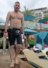IMG_1515 (danimaniacs) Tags: shirtless hairy man hot sexy male guy tattoo hair beard mexico body hunk jewelry shorts puertovallarta trunks swimsuit stud scruff