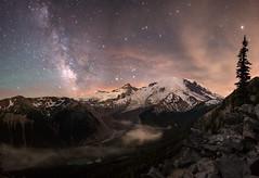 Mt Rainier - Milky Way (Anne and Tim Photos) Tags: rainier d750 nightsky mtrainier milkyway