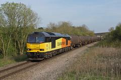 60021 Souldrop (Gridboy56) Tags: uk railroad england train bedfordshire trains locomotive tug railways locomotives class60 railfreight 60021 souldrop 6e38 colasrail