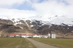 a cute farm (emilyrshf) Tags: sky snow mountains nature outdoors iceland farm eyjafjallajkull