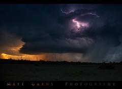 Oklahoma Mothership (Matt Grans Photography) Tags: storm oklahoma night lightning lightening mothership supercell