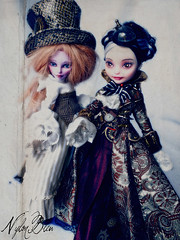 Steampunk ladies (NylonBleu) Tags: monster high ooak after ever mh swann steampunk duchess operetta repaint opereta nylonbleu cursto