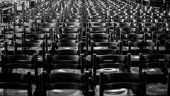Empty seats. (Bouhsina Photography) Tags: bw white black france canon wow chairs notredame strasbourg seats chaises cathedrale 2016 ef70200 bouhsina 5diii bouhsinaphotography