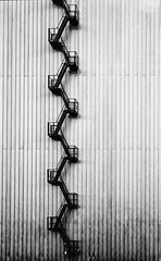 climbing-the-wall (wantie) Tags: architecture stairs metal wall ladders zigzag