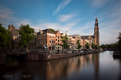 Westerkerk Reflection - Amsterdam, The Netherlands (N+C Photo) Tags: amsterdam d800 dslr nd amstel holland ams iamsterdam mokum dutch neutral density filter nikon nikkor 1635f40 slow shutter long exposure reflection reflejos sky cielo water agua canal westerkerk church western prinsengracht leliegracht houses city urban old history historic architecture architectural arquitectura architectuur benelux europe bridge sunset travel photography adventure earth life culture discover world explore global learn civilization tierra tourism holiday viaje aventura explorer image visual photo best