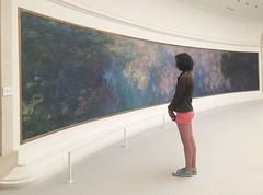Admiring the water lilies (Scott Atwood) Tags: paris france clouds tourist waterlilies monet tuileries claudemonet nympheas nymphas museedelorangerie orangeriemuseum