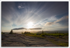 Acadia National Park (richpope) Tags: sunset mountain maine sundog acadia nationalgeographic cadillacmountain acadianationalpark