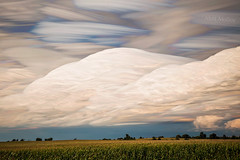Two Scoops of French Vanilla (Matt Molloy) Tags: trees sky ontario canada motion field clouds landscape photography timelapse movement corn country hills cumulonimbus scoops lovelife photostack mattmolloy timestack