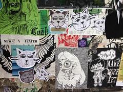 Post Alley Art (evil robot 6) Tags: seattle graffiti postalley pikeplacemarket streetart cats