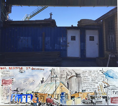 USK 7th Anniversary (MicheleC2) Tags: seattle terminal ballard usk fishermens urbansketchers seattleurbansketchers uskseattle