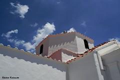 Lindos Rodos (Eleanna Kounoupa) Tags: blue sky church architecture clouds mediterranean greece rodos lindos traditionalarchitecture traditionalvillages       dodecaneseislands