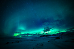 (dawvon) Tags: nightshot winter season nature stars auroraborealis nordic suurland snow vatnajkullnationalpark aurora rfajkull travel iceland sky starrysky landscape europe hvannadalshnkur vatnajkull dark glacier hvannadalshnjkur lveldisland night northernlights republicoficeland southernregion vatnajkullglacier sland east